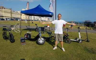 Ride and Glide demo day on hove seafront with peter line