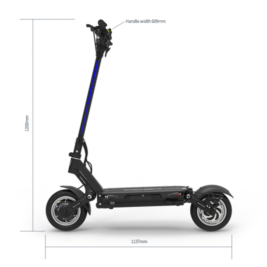dualtron3 electric scooter dimensions
