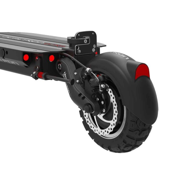 dualtron ultra back wheel and light of electric scooter