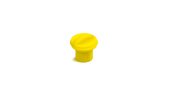 Fluorescent Yellow XR Charger Plug on a white background