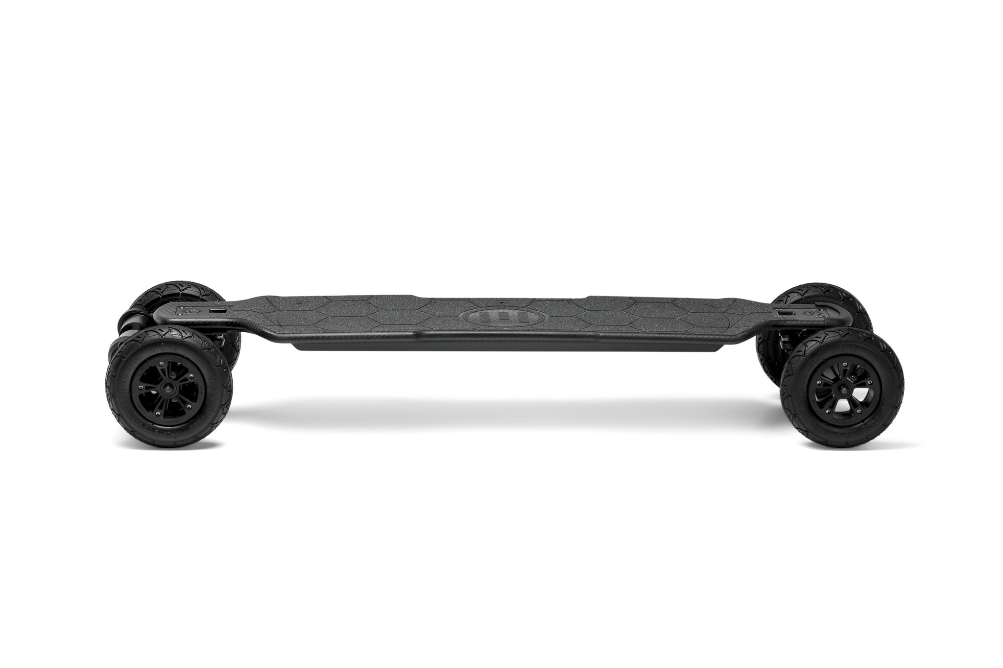 Evolve Carbon GTR All Terrain electric skateboard side profile on a white background