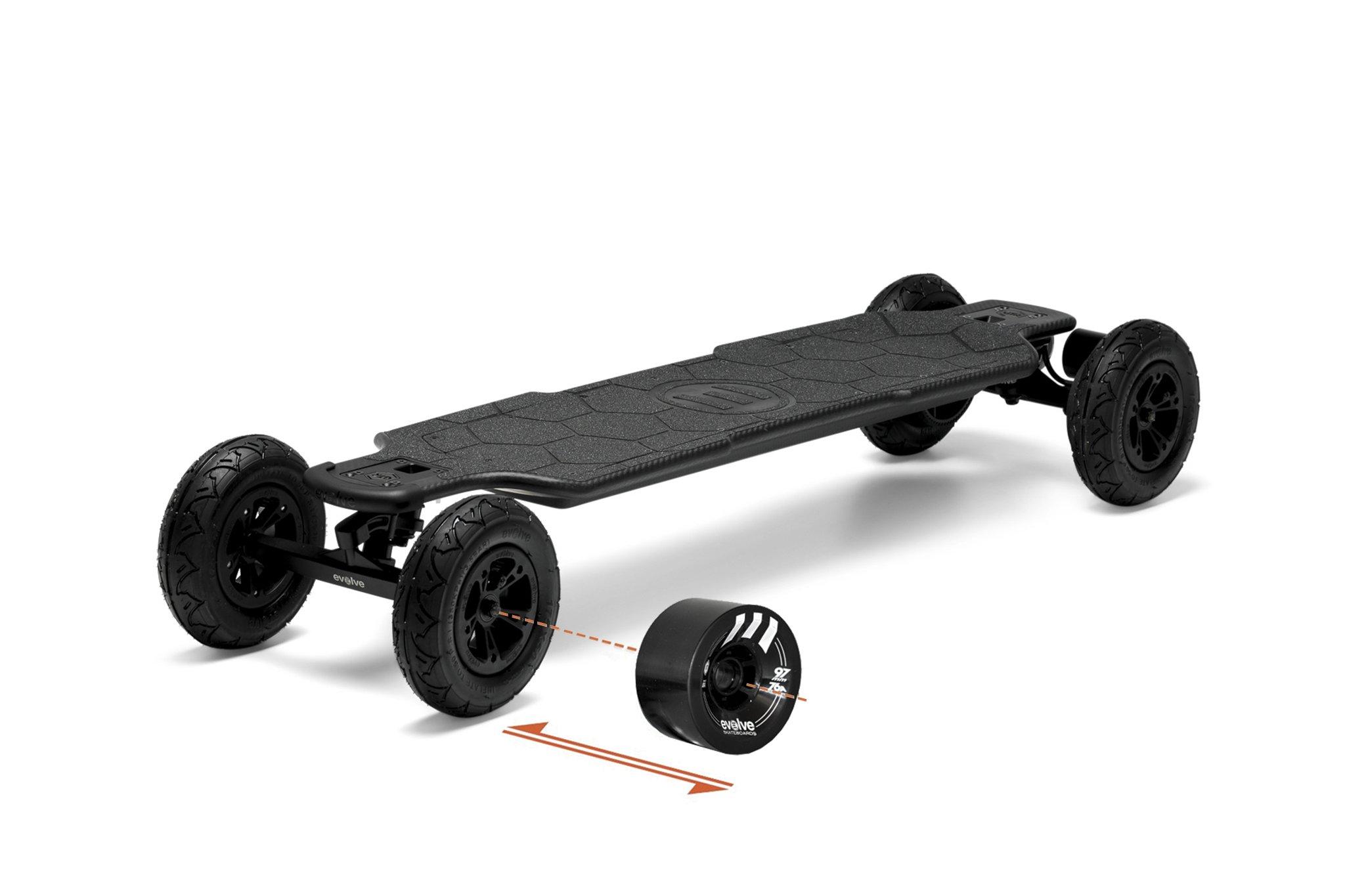 evolve electric skateboard 2 in 1