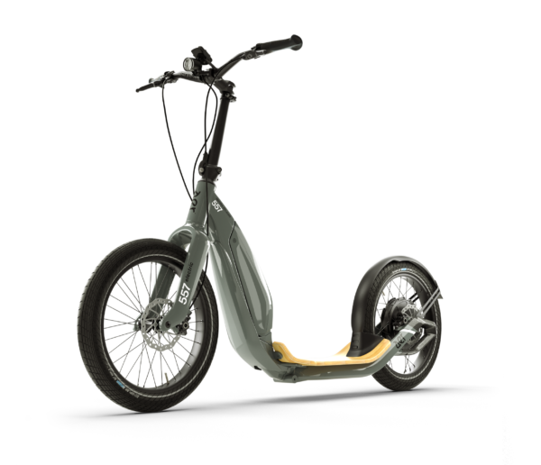 aer grey electric scooter