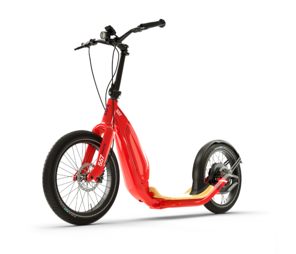 aer electric scooter red