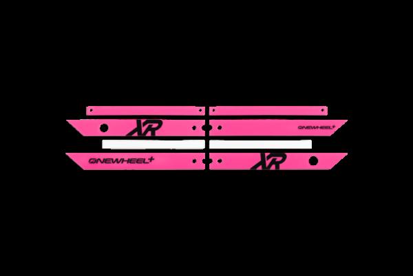 Onewheel XR Fuschia Rails on a white background