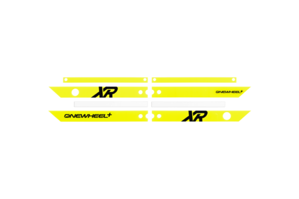 Fluorescent Yellow rail guards. Onewheel electric skateboards