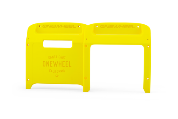 Fluorescent Yellow Bumpers for the Onewheel XR, White Backgroud