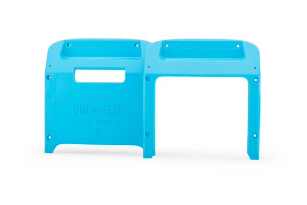Hot Blue Onewheel XR Bumpers on a white background