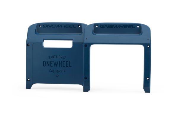 Navy Onewheel XR Bumpers on a white background