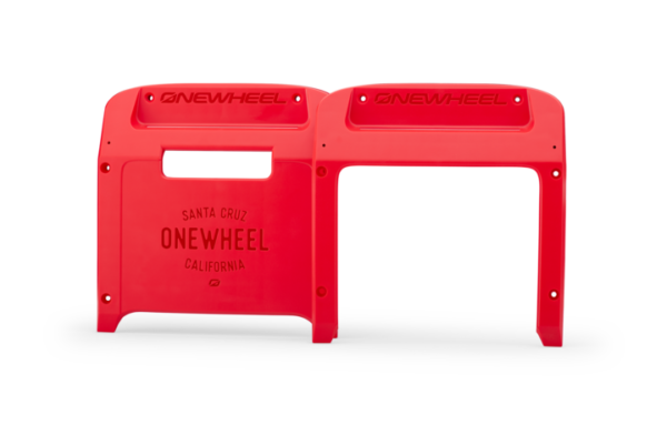 Red Onewheel XR Bumpers on a white background