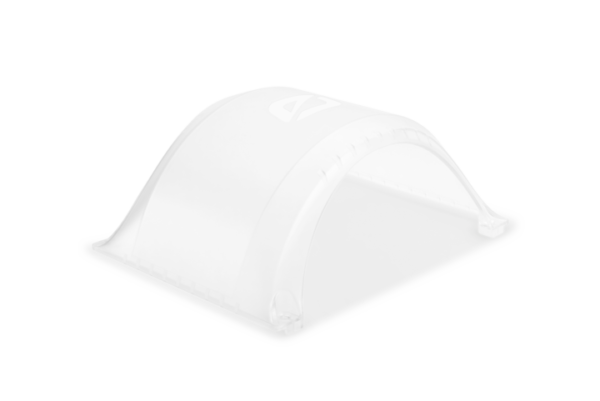 Clear Onewheel XR Fender on a white background
