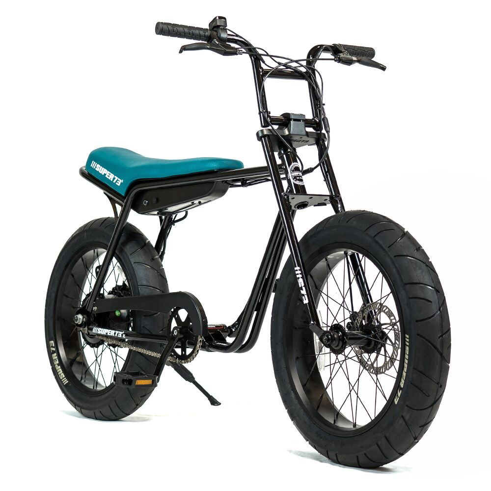 Super 73 ZG Electric Bicycle Front Side View In Black