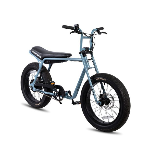 Super 73 ZG Electric Bicycle Front Side View In Blue