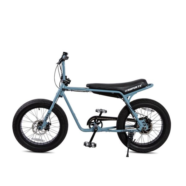 Super 73 ZG Electric Bicycle Side View In Blue