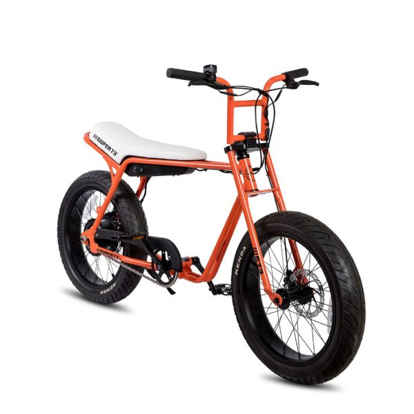 Super 73 ZG Electric Bicycle Front Side View In Orange