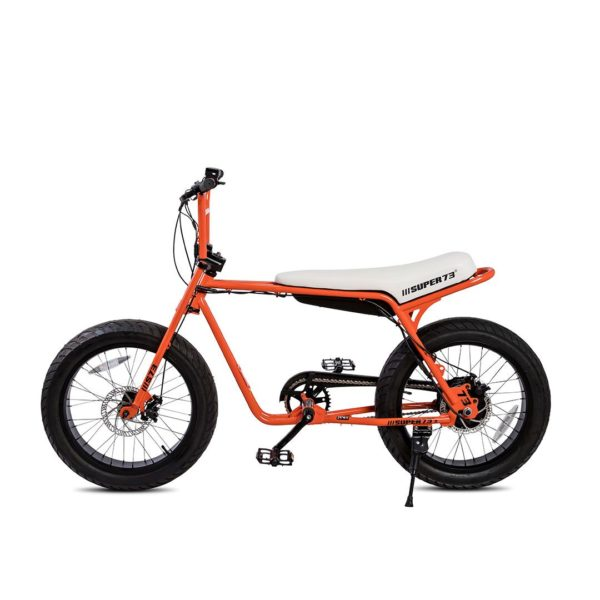 Super 73 ZG Electric Bicycle Side View In Orange