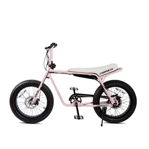 Super 73 ZG Electric Bicycle Side View In Pink