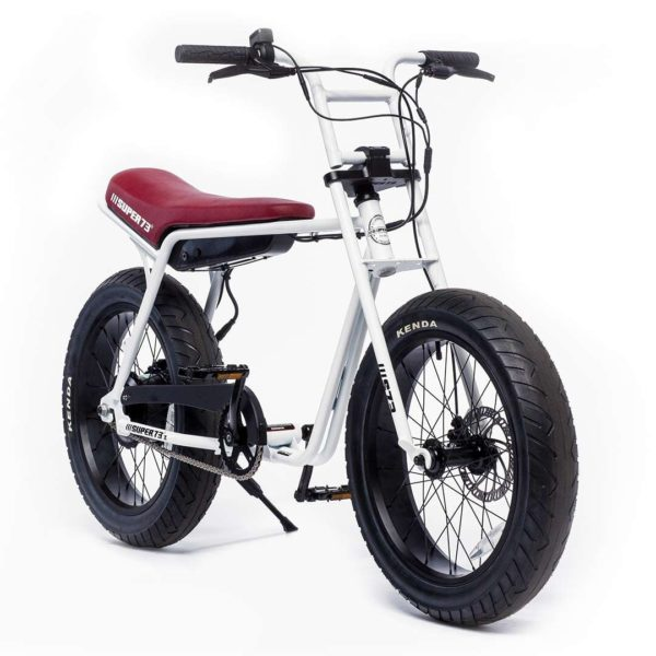 Super 73 ZG Electric Bicycle Front Side View In White