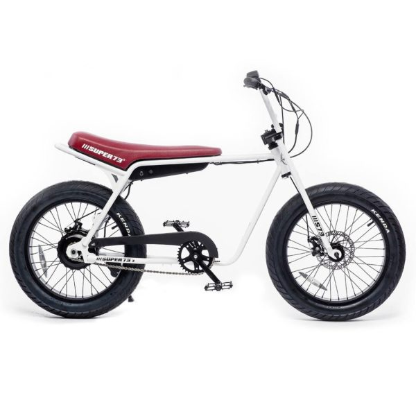 Super 73 ZG Electric Bicycle Right Side View In White