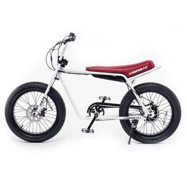 Super 73 ZG Electric Bicycle Side View In White