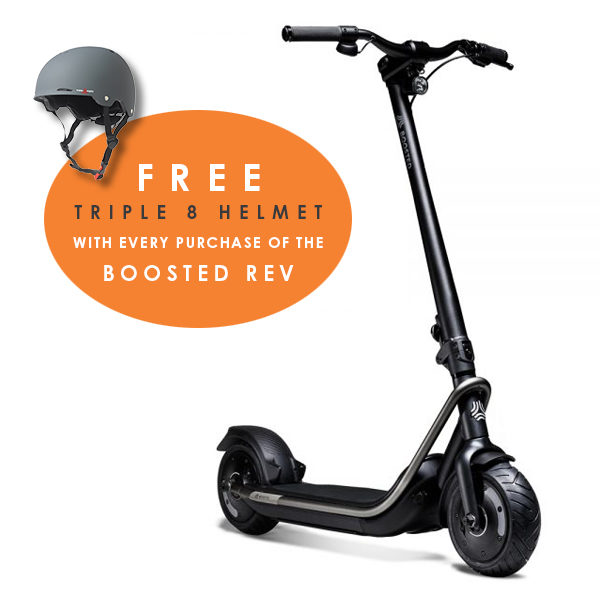BOOSTED REV ELECTRIC SCOOTER BLACK WITH FREE TRIPLE 8 HELMET