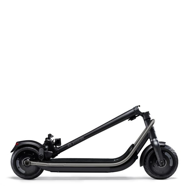 Boosted REV electric scooter side folded