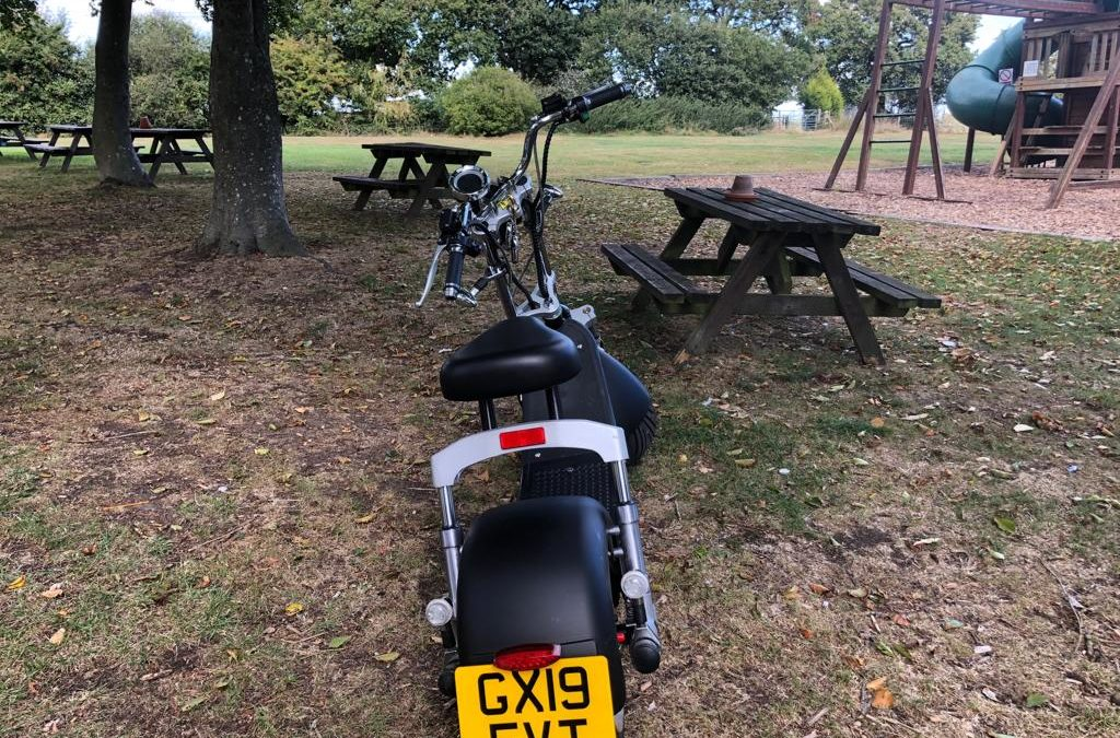 The UK's first road legal electric scooter