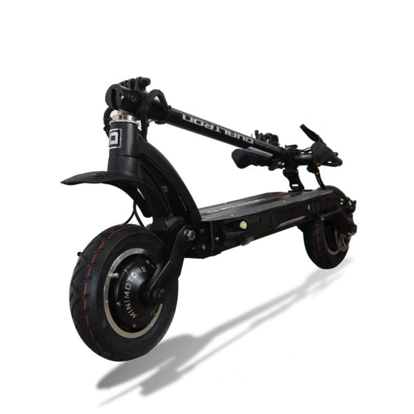 dualtron eagle electric scooter folded down