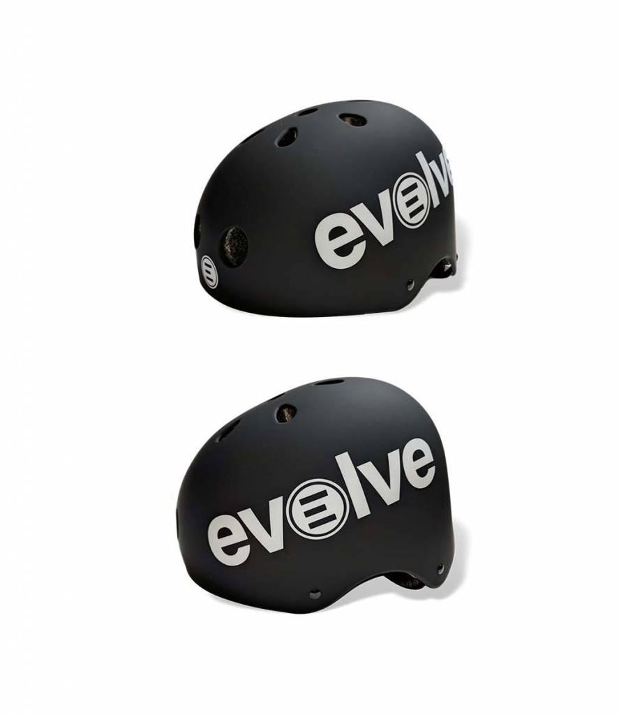 Evolve Helmet in black on a white background