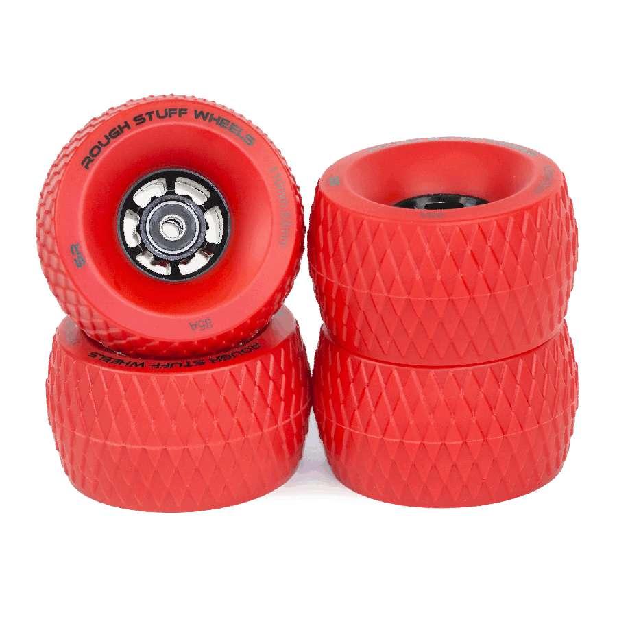 Slick Revolution Rough Stuff Wheels x 4 – Red