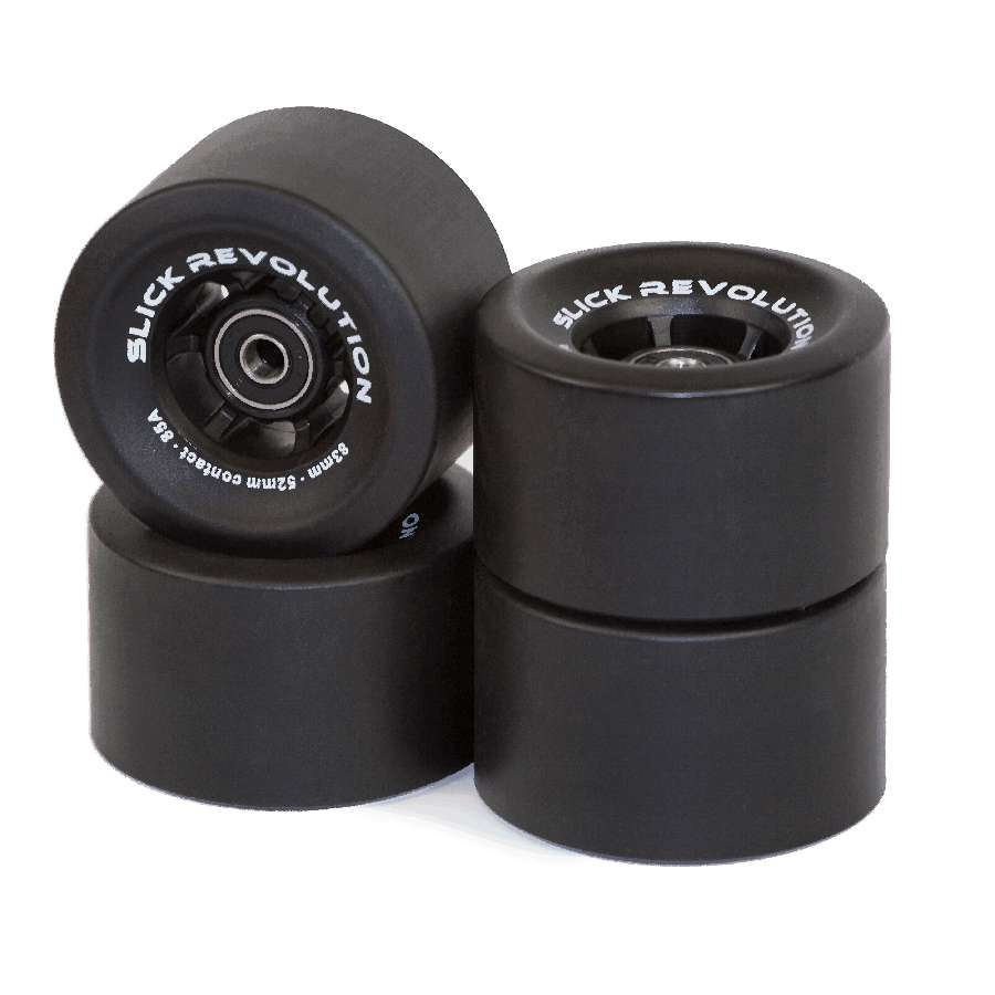Slick Revolution Slick Wheels x 4 – Black