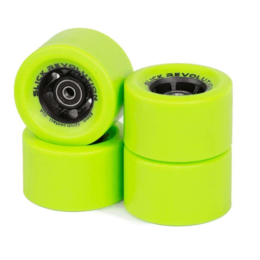 Slick Revolution Slick Wheels x 4 – Green