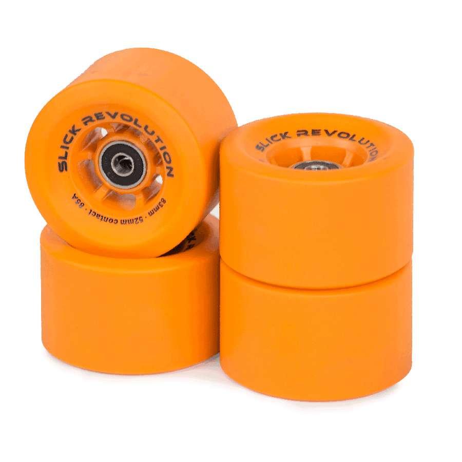 Slick Revolution Slick Wheels x 4 – Orange