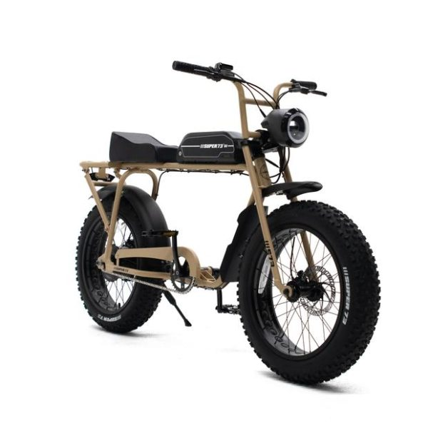 Super 73 SG1 tan electric bicycle front side view